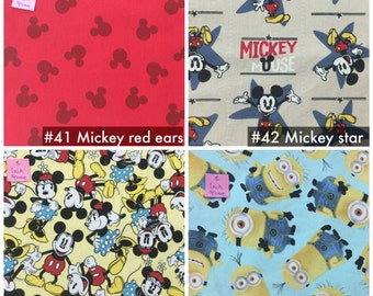 Bento Lunch Napkins -  Cartoons & Characters -choose your ownset of five cloth napkins