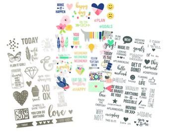Simple Stories - Carpe Diem - Posh Collection - Clear Stickers - 96 pieces - 4975