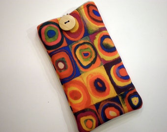 Cell phone case - Cell phone sleeve - Iphone sleeve - Smartphone case - Cell phone sleeve art - Cell phone case Kandinsky