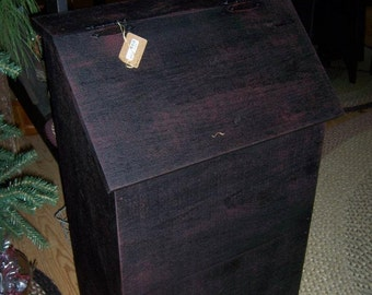 Wood Bin/ Trash Bin