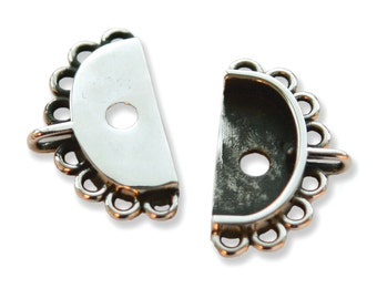 ITEM 660628 Findings - Small Bracelet Clasp Connector, Silver, 2PK by Jill MacKay®