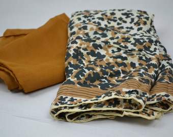 FREE SHIPPING 1960s Scarf Lot Brown Scarf Leopard Print