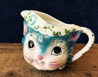 Vintage Miss Priss Kitten Creamer  Lefton Collectible
