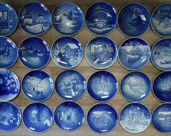Jule After Blue Copenhagen Christmas Plates 1959 through 1985 24 Total FREE SHIPPING