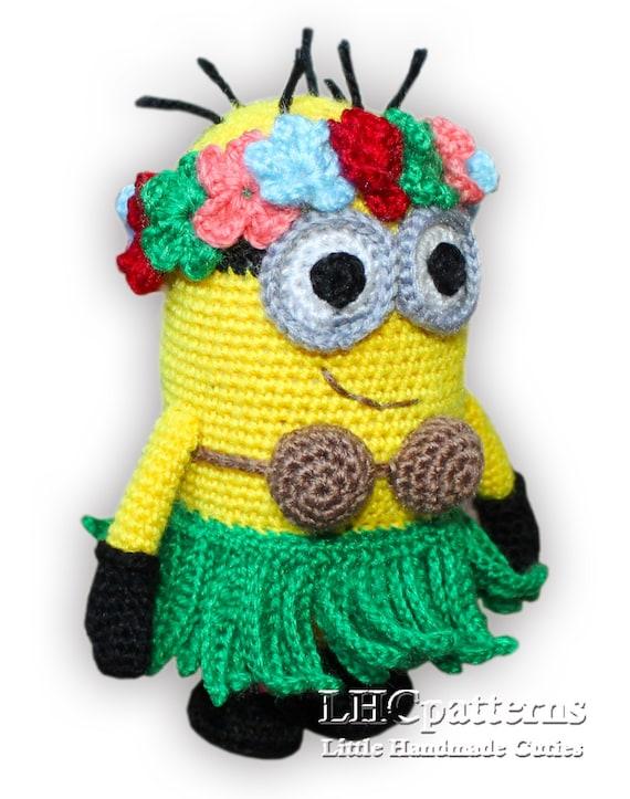 Crochet Minion Hula Pattern, Minion Hawaii Girl Crochet ...