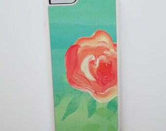 Mint Floral iphone 6 plus case, Watercolor iPhone 5s Case, Rubber iphone case, Samsung Galaxy s7, Galaxy S5