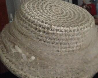 Vintage Franklin Simon 50's straw hat