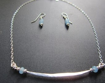 Chalcedony and Sterling Silver Set