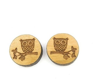 OWL on branch earrings