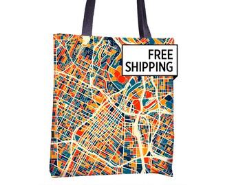 Los Angeles Map Tote Bag - La Map Tote Bag 15x15