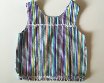 Vintage Handmade Candy Striped Cotton Tank Top