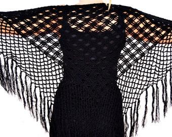 handmade black shawl