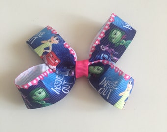 Inside out bow, grosgrain ribbon bow