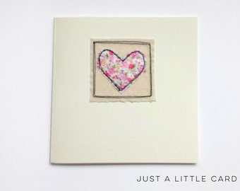 Machine Stitched Greeting Card Blank Inside - Just a little card...