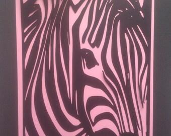 Die Cut Silhouette Art/Ready to Frame/Zebra