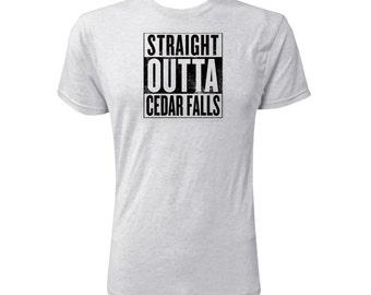 Straight Outta Cedar Falls (Black) - NLA Heather White