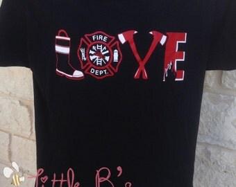 Firefighter Love Shirt | Firefighter Wife Shirt | Firefighter Girlfriend Shirt |Maltese Cross Shirt | Firefighter Love
