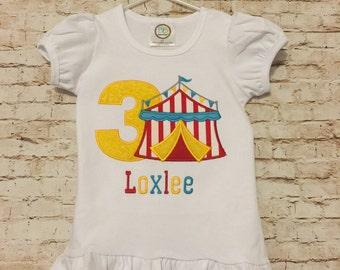 Circus birthday onesie or shirt