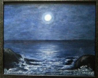 Rocky Shoreline Original  Fine Art painting