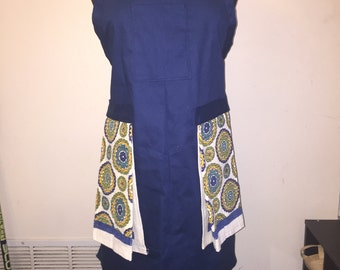 Women's apron with colorful towels
