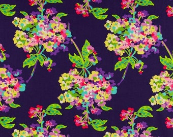 One Yard and 13 Inches of Water Bouquet Midnight - Amy Butler Fabric - Love Collection