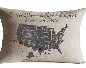 Map Pillow Etsy - Us map pillow