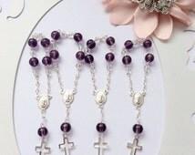 10%off weekend sale 50 pcs Mini Rosaries, Baptism Favor, First communion favors Recuerditos Bautizo / Mini Rosary Baptism Favors 50 pcs