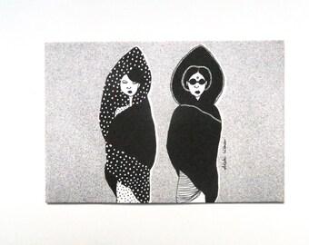 VEILED card - A6 Art Print
