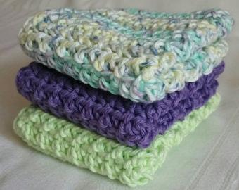 Crocheted Cotton Wash Cloths