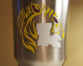 Geaux LSU Yeti decal