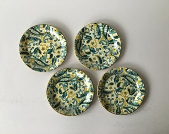 Yellow and Blue Coaster set of 4
