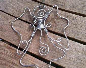 Silver Wire Angel Ornament OR-121315-0