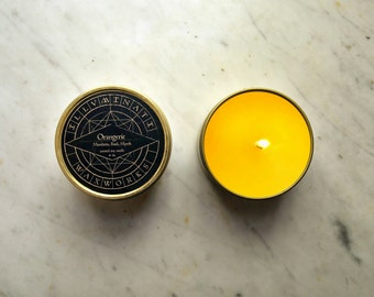 Orangerie, Orange Scented Candle, Citrus Candle, Vegan Soy Candle, Christmas Gift, Man Candle, Gift for Her, Scented Candle, 4 oz Tin