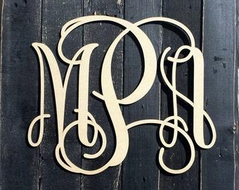 Monogram Wall Hangings monogram door hanger | etsy