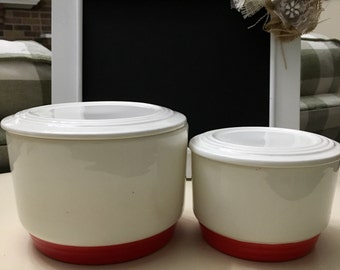 Knowles Utility Ware Nesting Refrigerator Dishes Covered Bowls