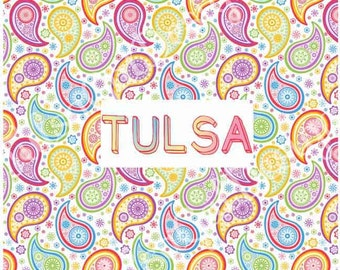 Tulsa Paisley Pillow Cover