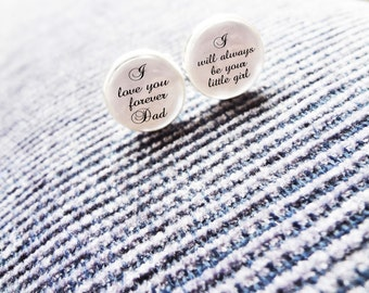 Personalised Cufflinks - Father of the Bride/Father of the Groom/Groomsman/Groom