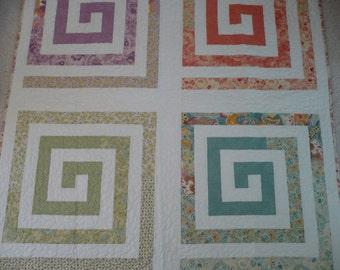 Pastel Geometric Quilt