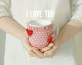Heart Mug Sweater, in Pink