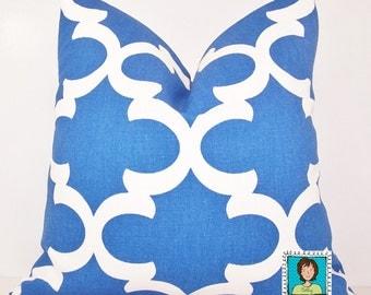 Cobalt Pillow Cover, Euro.Sham, Lumbar,18 x 18, 20 x 20, 24 x 24,  Pillow Insert, Premier Prints Fabric,Moroccan,Scroll,Blue Pillow Cover