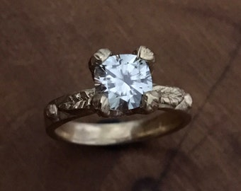 Grey Moissanite Engagement Ring - Ready to Ship