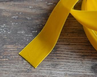 bright yellow goldenrod velvet ribbon