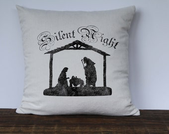 Silent Night Nativity Wood Craft Pattern Small Size
