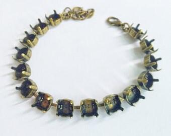 39ss Empty Cup Chain 8mm Brass Ox Plating for Swarovski 1088 1 Bracelet DIY Jewelry