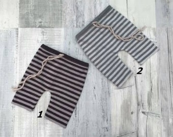 NEW! Newborn stretch baby pants,Newborn pants,Striped pants,Photo prop, Pants, Striped trousers