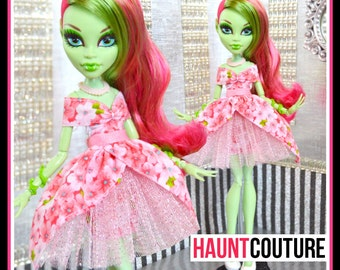 """Monster Doll Haunt Couture: """"Spring Blossom"""" high fashion dress clothes"""