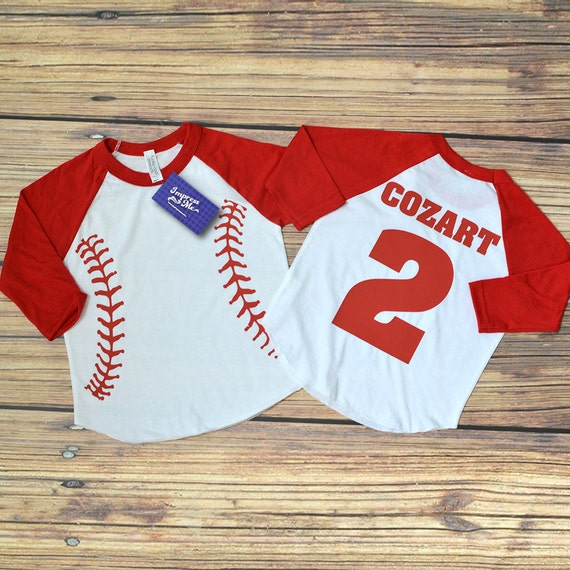 personalized raglan baseball shirt american apparel kids ForCustom Raglan Baseball Shirt