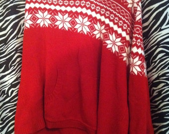 Vintage Fashion Bug Holiday Sweater Hoodie Women's Plus Size 2X