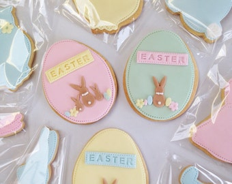 Easter gift, easter egg biscuits, easter treats for children, Happy Easter, free UK postage, chocolate alternatives for easter, easter gift