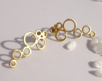 Baubles Earrings-Gold plated baubles studs